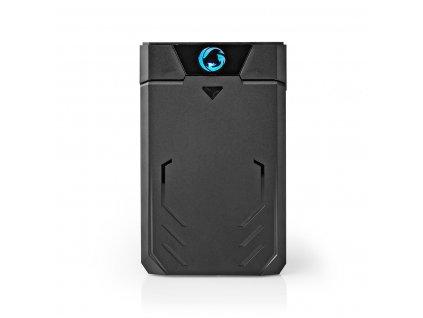 "Nedis GHDDE25300BK externí box pro pevný disk 2.5"" SATA III, USB 3.1, 6 Gbps, plast"