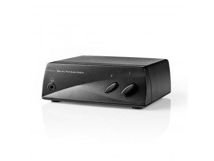 Nedis ASWI2402BK audio přepínač manuální se 2 porty, extra výstup pro sluchátka
