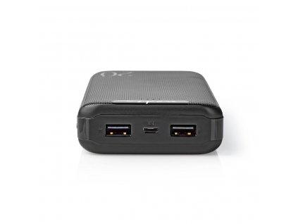 Nedis UPBK20002BK powerbanka 20000 mAh, 3 x USB, 3.0/2.1/1.0 A, černá