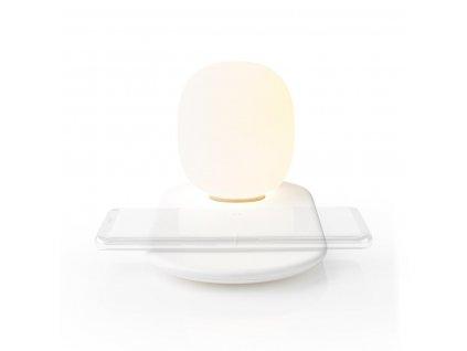 Nedis LTLQ10W1WT LED noční lampička s dotykovým ovládáním a bezdrátovou Qi nabíječkou 10 W