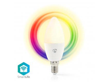 Nedis SmartLife chytrá LED žárovka E14 4.5W 350lm barevná + teplá bílá (WIFILC11WTE14)