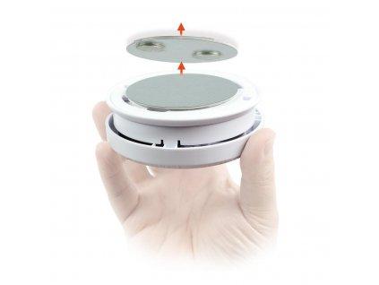 Nedis DTCTBR05 samolepicí magnetický držák pro detektory tepla a kouře Nedis, průměr 39 mm