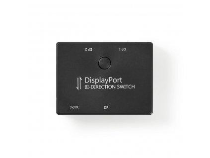2 Porty | Obousměrný DisplayPort Přepínač | Černá