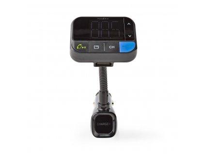 Nedis CATR102BK FM transmitter / Bluetooth® / zvýraznění basů / microSD / handsfree do auta / hlasové ovládání / 2 x USB 2.4A a 1A