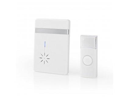 Nedis DOORB212WT bezdrátový zvonek, 80 dB, 36 melodií, bateriový, bílý