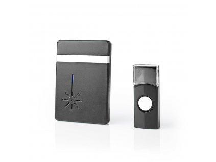 Nedis DOORB212BK bezdrátový zvonek, 80 dB, 36 melodií, bateriový, černý