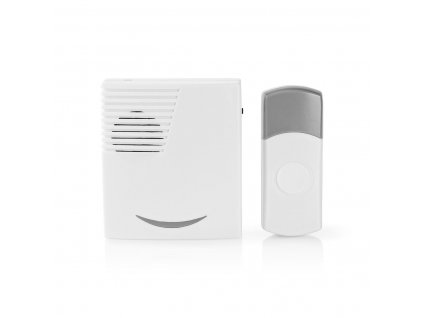 Nedis DOORB211WT bezdrátový zvonek, 70 dB, s 36 melodií, bateriový, bílý