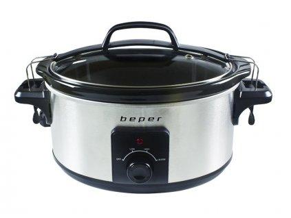 BEPER BC500 hrnec pro pomalé vaření 5,5l, nerez, 260W