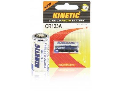 Lithiová baterie Kinetic CR123A 3 V, 1ks, CR123A