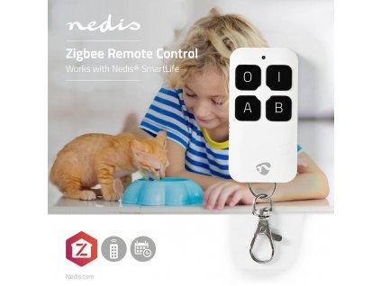 Nedis SmartLife Tuya ZigBee chytrý dálkový ovladač, 4 programovatelná tlačítka (ZBRC10WT)