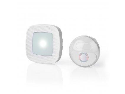 Nedis DOORB220CWT bezdrátový zvonek, 80 dB, 36 melodií, napájený ze sítě, blikající LED, bílý