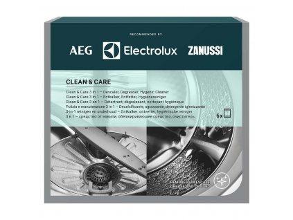 AEG/Electrolux Clean Care čistič, odvápňovač a dezinfekce pro pračky a myčky, 6 cyklů (M3GCP400)