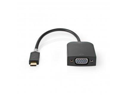 Nedis CCBW64852AT02 adaptér zástrčka USB-C - zásuvka VGA, antracit