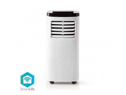 Nedis SmartLife chytrá mobilní klimatizace, 7000 BTU, 40 - 60 m³, Wi-Fi, energetická třída A, 65 dB, bílá (WIFIACMB1WT7)