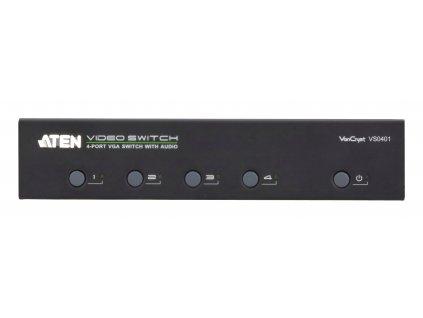4-Port VGA Přepínač S Podporou Zvuku Černá