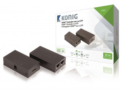 Extender HDMI po UTP, Full HD 1920x1080, do 30m König KNVRP3410