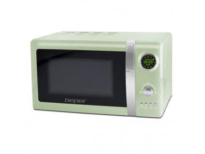 BEPER 90890-V digitální mikrovlnná trouba s grilem 20l retro zelená