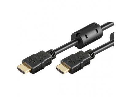 Goobay 31907 kabel High Speed HDMI A > HDMI A ethernet 1.5m, zlacené koncovky a feritové jádro