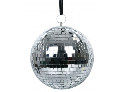 Disko zrcadlová koule basicXL (20 cm) - stříbrná