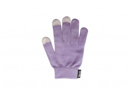 Rukavice iTECH s elektrovodivými konečky 3566 (5 prstů) velikost S fialové