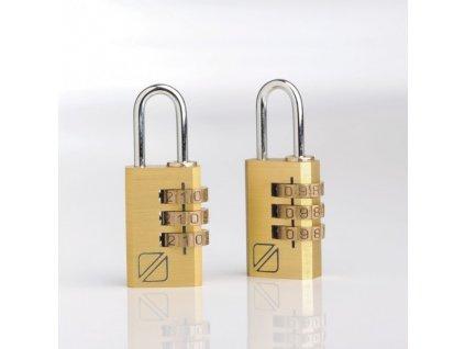 Bezpečnostní cestovní zámek na zavazadla s kombinací, slitina hliníku, set 2kusy TB032