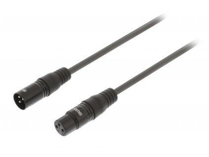 DMX kabel 110 Ohm XLR 3pin zástrčka - XLR 3pin zásuvka 0.50 m Sweex