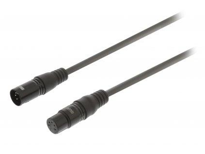 DMX kabel 110 Ohm XLR 5pin zástrčka - XLR 5pin zásuvka 1.5 m Sweex