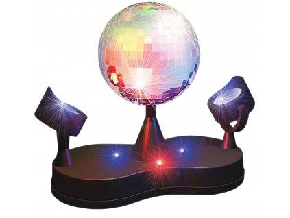 Zrcadlová disco koule 13 cm se 2 reflektory ED871727886521