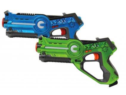 Jamara Laser Battle sada 2 laserových pistolí modrá/zelená JAM-410036