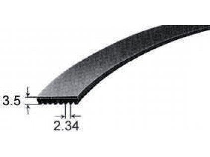 Řemen drážkový 1321PJ6 do pračky Bbc, Blomberg, Bosch, Constructa, Lepper, Siemens