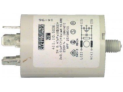 Kondenzátor rozběhový 0.47uf / 450 V s fastony (W1-11306/A)