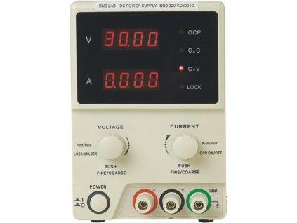 Laboratorní napájecí zdroj,1 kanál, 0÷30 VDC, 0÷5 A, RND320-KD3005D