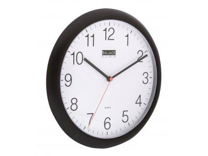 Analogové nástěnné hodiny 25 cm černé, Balance 506195