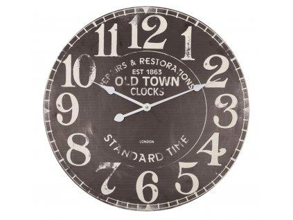 Retro analogové nástěnné hodiny 60 cm dřevěné, Balance 306811