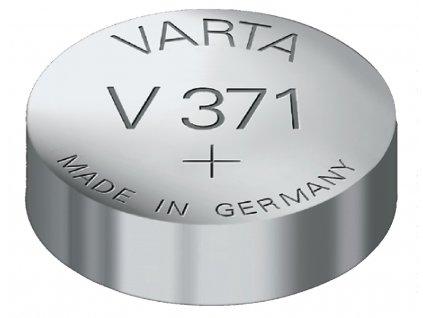 Stříbro-oxidová hodinková baterie SR69/V371 1.55 V 44 mAh, VARTA-V371