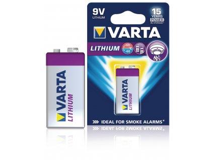 Lithiová baterie Barta 9 V, 1ks,  VARTA-CR9V