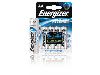 Lithiová baterie Energizer Ultimate AA 1.5V, 4ks, ENLITHIUMAAP4