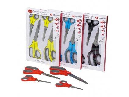 Alpina 95606 nůžky set 4 ks (velikost 12, 14, 21 a 25 cm)