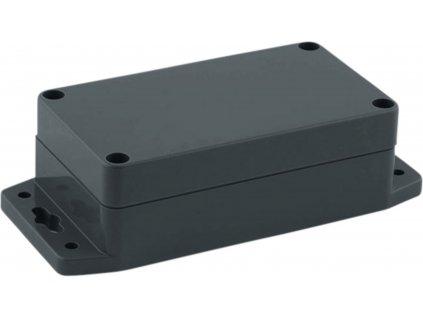 Krabička s bočními úchyty, ABS plast, IP 65 / NEMA 4, tmavě šedá 115 x 65 x 40 mm