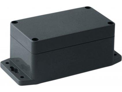 Krabička s bočními úchyty, ABS plast, IP 65 / NEMA 4, tmavě šedá 115 x 65 x 55 mm