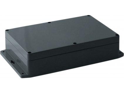 Krabička s bočními úchyty, ABS plast, IP 65 / NEMA 4, tmavě šedá 222 x 146 x 55 mm