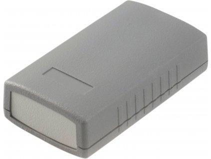 Krabička čtyřdílná, ABS plast, IP 54, tmavě šedá 90 x 50 x 24 mm