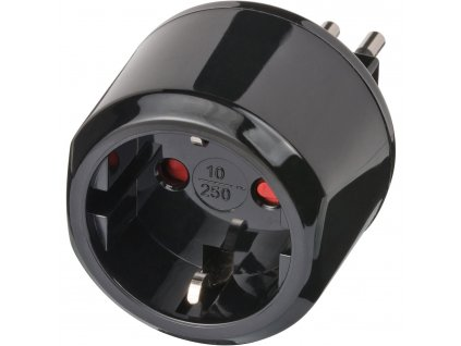 Brennenstuhl cestovní adaptér Evropa na Itálie, uzemněný BN-1508470
