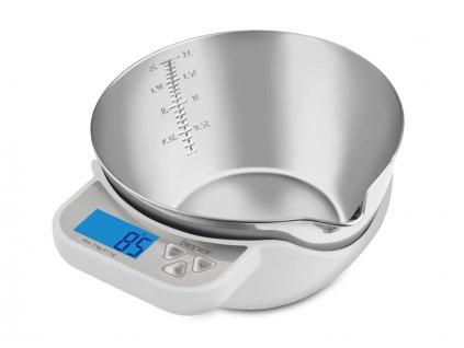 BEPER 90114-B nerezová elektronická kuchyňská váha do 5kg, bílá