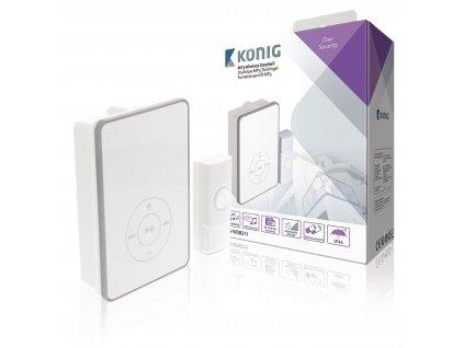 Bezdrátový zvonek 80 dB s podporou MP3, bateriový König SAS-WDB211