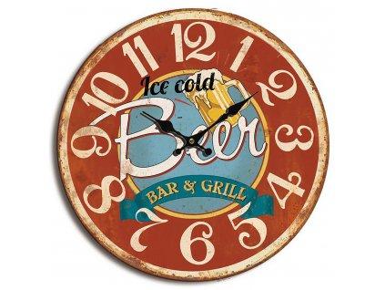 Retro analogové nástěnné hodiny 40 cm, Balance 596831