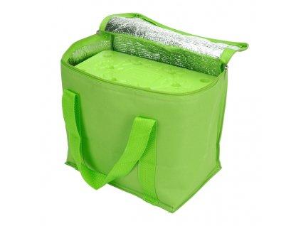 Chladicí taška zelená (objem 7l) a velká chladicí vložka (350 ml)