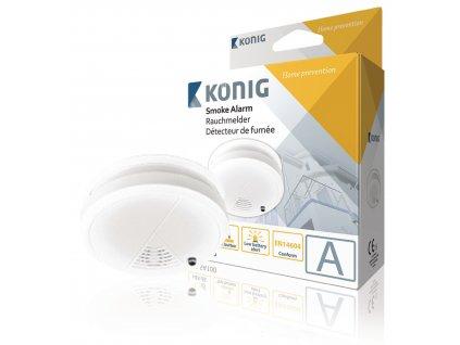 Detektor kouře dle EN14604, König SAS-SA100