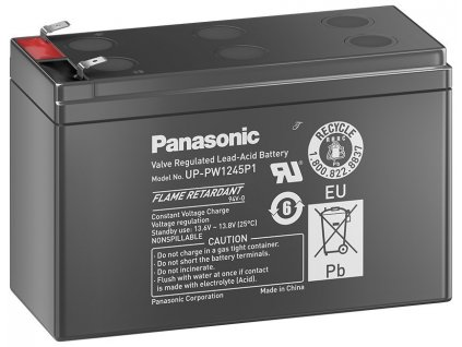 PANASONIC olověná baterie UP-PW1245P1 do UPS AEG/APC/EATON/ 12V/ 9Ah/ životnost 10-12let/ Faston 250