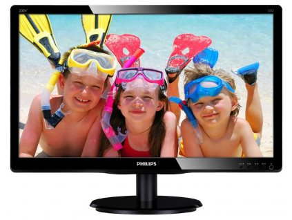 "PHILIPS 19,5"" LED 200V4QSBR/ 1920x1080/ MVA/ 16:9/ 8ms/ 250cd/m2/ DVI/ D-SUB/ VESA 100x100/ černý"